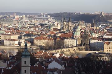 View on the autumn Prague City, Czech Republic