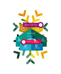 Sale Christmas tags and stickers