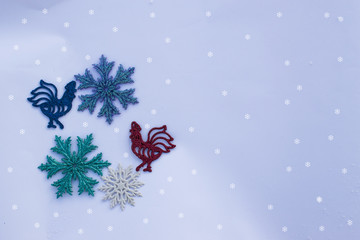 Background for greeting card for New year or Christmas