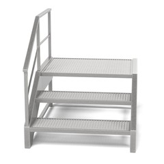 realistic 3d render of industrial stairs