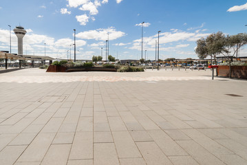 Empty floor in front of Perth Airport , Western Australia.