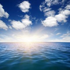 Blue sea and sun