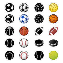 Vector Sport balls icon set 2