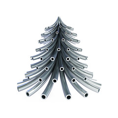 Christmas tree metal pipe