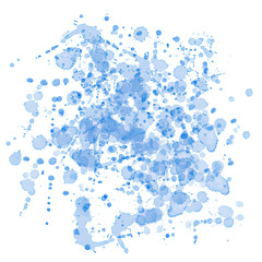 Blue watercolor stains. Isolated on white.