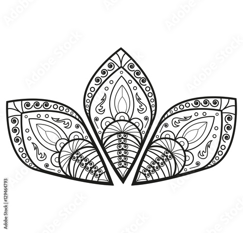 Black and white mandala flower vector for coloring, fiore mandala in ...