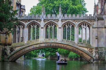 The Bridge of Sighs in Cambridge University.