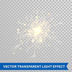 Sparkler light. Firework magic glitter effect