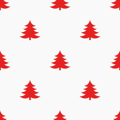 Red Christmas trees background