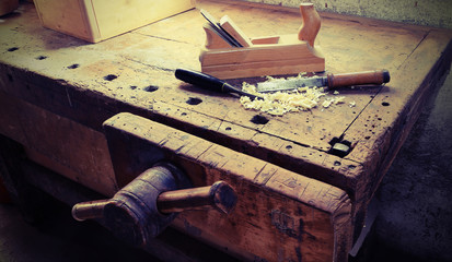 in the ancient workshop of the carpenter