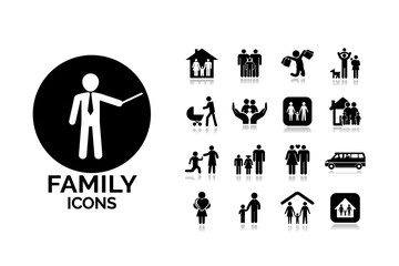 Family vector illustration. Set icons2.
