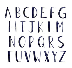 Hand Painted Alphabet