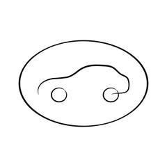 Car icon. Universal car icon to use in web