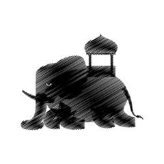 hand drawing elephant sketch design vector illustration eps 10