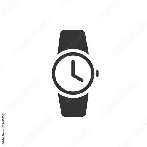 watch icon vector illustration isolated on white background black rh fotolia com vector watch app vector watch app