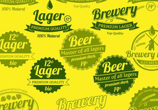 Beer Bottle Labels Layout