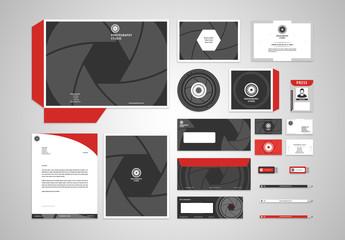 Photography Studio Branding Stationery Layout Kit