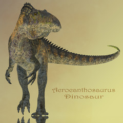 Acrocanthosaurus Dinosaur Mirror - Acrocanthosaurus was a carnivorous theropod dinosaur that lived in North America during the Cretaceous Period.