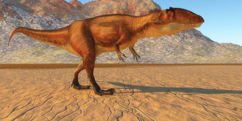 Carcharodontosaurus Out Hunting - Carcharodontosaurus was a carnivorous theropod dinosaur that lived in the Sahara region of Africa in the Cretaceous Period.