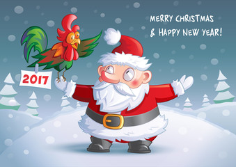 2017 Christmas and Happy New Year card