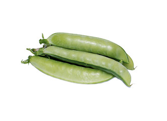 Pods of vegetable green peas
