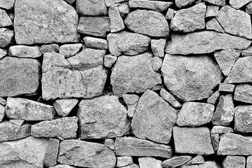 Muret de pierres en granit