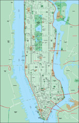 NYC Map, Manhattan with streets