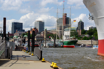 HAMBURG, GERMANY - JULY 18, 2015: MS Cap San Diego is a general cargo ship, situated as museum in - St Pauli