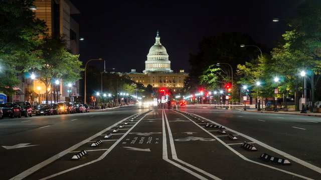 WASHINGTON DC, USA -  US Capitol street view