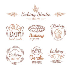 Bakery logo elements.
