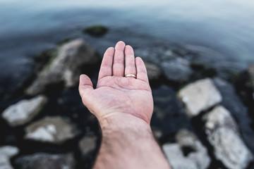 Pray human hand