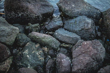 Heap of dark stones