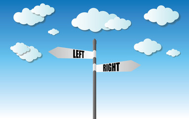 left and right sign
