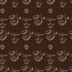coffee drawing pattern coffee drawing label