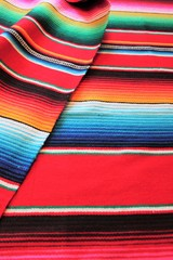 Mexico Mexican poncho cinco de mayo blanket rug  fiesta background with stripes stock, photo, photograph, picture, image