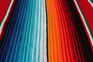 poncho background mexican Mexico cinco de mayo serape blanket fiesta background with striped rug copy space stock, photo, photograph, image, picture
