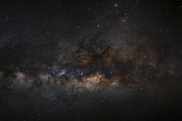 Close-up of Milky Way Galaxy, Long exposure photograph, with gra