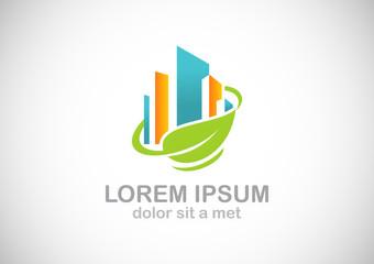 building leaf environment logo