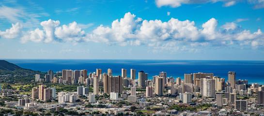 Hawaii skyline aerial view