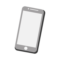 mobile phone screen technology gray color vector illustration eps 10
