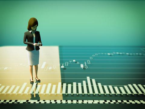 株式市場と女性