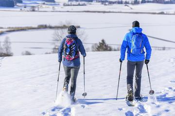 Ausflug mit Schneeschuhen im Ostallgäu