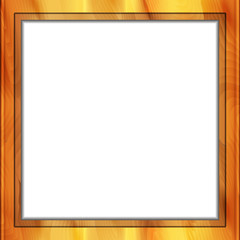 Square wooden frame. Vector illustration
