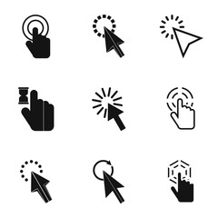 Arrow icons set. Simple illustration of 9 arrow vector icons for web