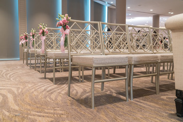 Chairs for wedding ceremony