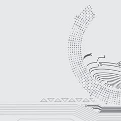 grey techno background