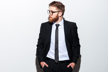 Cool business man in glasses