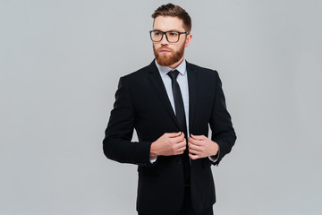 Business man in glasses