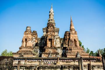 ancient remains of world heritage sukhothai historical park Thai