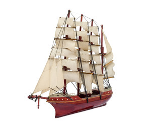 Barque ship gift craft model wooden
